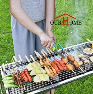 Bbq Grill Portable Foldable Barbeque Pit Rack