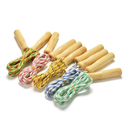 2.4M Child Kids Skipping Rope Wooden Handle Jump Play Sport Exercise Workout Toy
