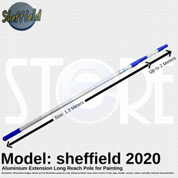 Sheffield Aluminium Extension Long Reach Pole Up to 2 Meters for Painting