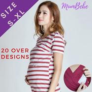 1e1cf67af2a ⏰【100% MATERNITY】Maternity Nursing Dress Top Wear Clothes Breastfeeding  friendly Long Sleeves