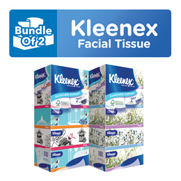 Bundle of 2!! [KLEENEX] Classic / Garden Soft Box Facial Tissue 2-Ply (4x180 Sheets)