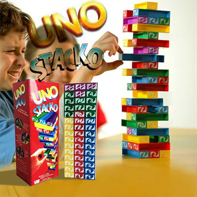 COUPON; UNO Stacko Kids Toys Online Various Cheap Educational Play Colorful Brain Teaser Games