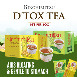 Kinohimitsu Detox Tea Peppermint/Ginger 14s *Cleanse Toxins* Detoxify* Healthy Slimming*