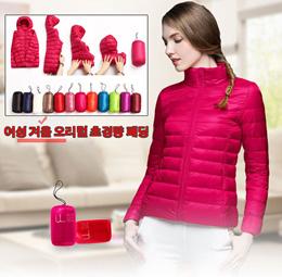 여성 겨울 오리털 초경량 패딩/고품질 덕다운점퍼 / 다양한 색상/무료배송