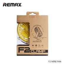 Remax F-2 Kipas angin Mini Rechargeable USB Mini Fan with Clipp