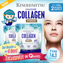 Kinohimitsu Marine Collagen Powder 5000mg (2 MTHS SUPPLY) - With Collagen Type 1 and 3 Skin n Joint