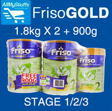 【FRISO】Gold Milk Powder (Stage 2|3|4) 1.8kg x 2 + 900g FOC