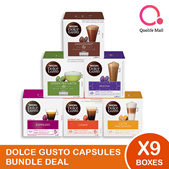 NESCAFE DOLCE GUSTO NDG Coffee and Tea Capsules Bundle of 9