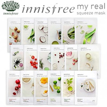 Set Promotion! Innisfree My Real Squeeze Mask Sheets Set of 5 or 10