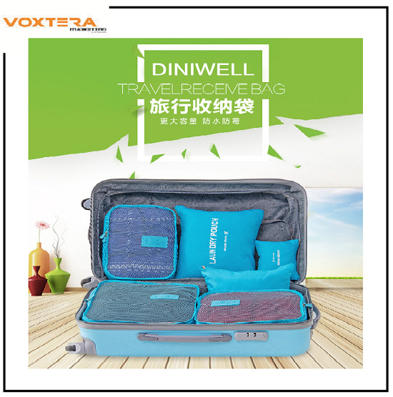 TRAVELLING TIME!!! - 6pcs SET MONOPOLY Multipurpose Travel Organizer Bag Deals for only RM19.9 instead of RM19.9