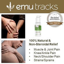 EMU TRACKS Liniment 100ml. Muscle and joint pain. 100% Natural. No Steroid N Drugs.