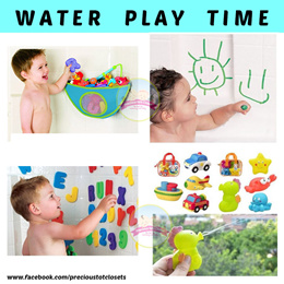 Bath Toys * Squirters * Pororo Pail * Bath Crayon * Foam Alphabet * Boat * Storage Bag * Robocar
