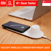 💖READY STOCK💖[Xiaomi Yeelight Wireless Charger] LED Night Light Magnetic Attraction Fast Charging