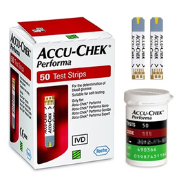 ACCU CHEK Performa 250 Sheets Test Strips for Performa Nano Combo Connect Expert