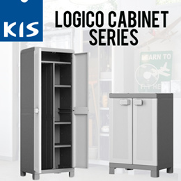 [KIS] Logico Cabinet Series / Base Cabinet  / Multispace Cabinet / Utility Cabinet / Made in Italy / Storage Cabinets / Home Organization