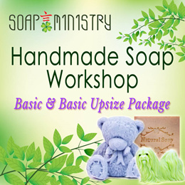 BASIC  BASIC UPSIZE HANDMADE SOAP MAKING WORKSHOP FOR ALL AGES FROM CHILDREN TO ADULT