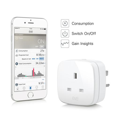 Smart Home With Apple HomeKit Elgato Eve Energy UK - Plug // Switch