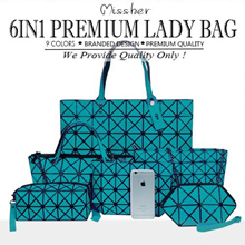 【FREE QXPRESS】PREMIUM QUALITY GEOMETRIC 6 in 1 Tote Bag / Hand Bag / Clutch / Wallet  LB-CG10