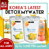 DETOX TEA! 🍊Korea FRUIT WATER🍋 Up to 14L PER BAG!! Tea + Fruit Slices! YUMMY!