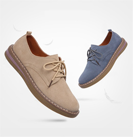 2018 New Womens Sports Shoes Oxford Shoes Flats Womens Leather Series Round Soft Shoes