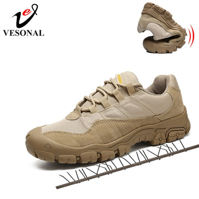 86cc1ec4c3b0 Cow Suede Leather Work Safety Male Sneakers Shoes For Men Adult Non-Slip  Casual Military