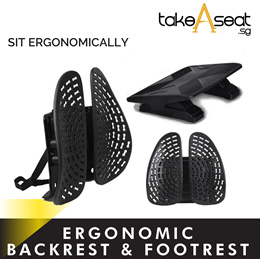 Ergonomic Backrest And Footrest For Adults and Kids / Adjustable Leg Rest / Lumbar Support