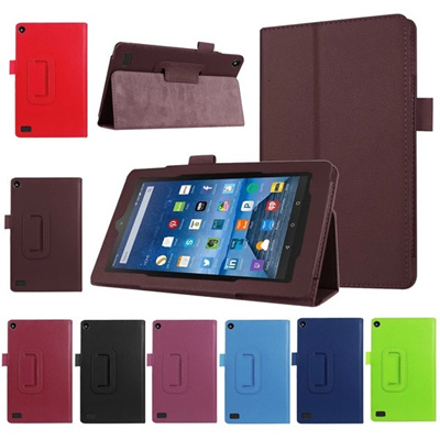 Hot Selling Leather Case Stand Cover For Amazon Kindle Fire HD 7 2017 Tablet