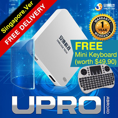 Ready Stock SG Version UNBLOCK Tech Gen 6 PRO 2 IPTV free Live TV Android TV box Gen 5 UPro ubox 4 Deals for only S$228 instead of S$228