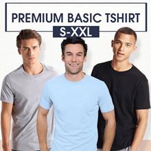 [5 Size Unisex S-XXL] Kaos Polos Premium Quality