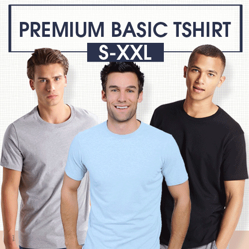 [5 Size Unisex S-XXL] Kaos Polos Premium Quality Deals for only Rp39.000 instead of Rp39.000