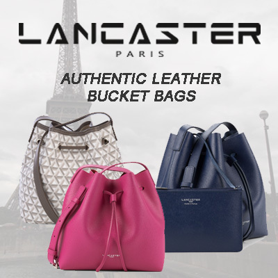 LANCASTER LEATHER BUCKET BAGS☆100% GUARANTEED AUTHENTIC☆ SG TOP 773bc7aad9