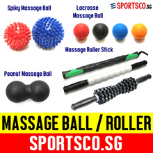 ⏰⚡ FREE Shipping ⚡ Lacrosse ☘ Spiky ☘ Peanut Massage Ball ☘ Massage Roller Stick ☘