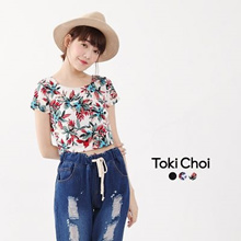 TOKICHOI - Floral Crop Top-6019281-Winter