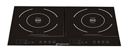 GForce GF-P1369-854 Portable Electric Double Induction Stove Burner Cooktop with Heat Function, Temp
