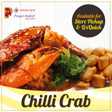 $35 for Ponggol Signature Chili Crab! U.P $60. (600-800g each!)