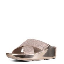 FITFLOP CRYSTALL SLIDE METALLIC ROSE GOLD ★100% Authentic★