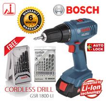 [Bosch Power Tools] GSR 1800-LI 18V Cordless Power Drill/ Driver (FREE 15pcs Drill Bits)