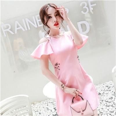 2017早秋  韓国ファッション  レディース  ワンピース 流行 体型 カバー    可愛い  上質   SKZ144