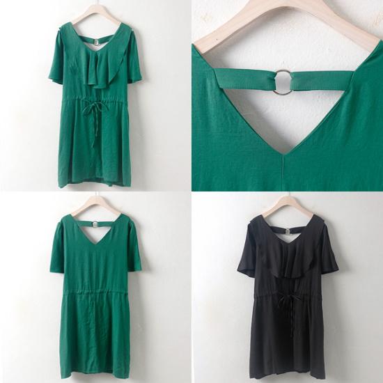 ウィスィモールIWアイスフリルのワンピースYP1707 綿ワンピース/ 韓国ファッション