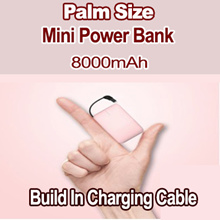 Special Activity Price/S$15.9 /8000mAh / Mini rechargeable Treasure / Emergency Charging / Portable/ Ultrathin/ Only 0.8cm Thickness