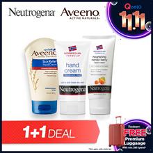 1 + 1 Neutrogena Norwegian Fragrance Free/Norwegian Nourishing Nordic Berry/Aveeno Skin Relief