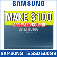[MAKE $100] SAMSUNG Portable SSD T5 - 500GB  USB 3.1 External SSD