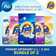 ( Bundle of 2 ) Fab Laundry Powder Detergent 2.1/2.3kg / Washing / Clothes / Fabric / Different Type