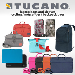 Tucano Cases / Bags for 13 / 15 / 17 / 15.6 / 10 Inch Laptops / Notebooks / Tablets