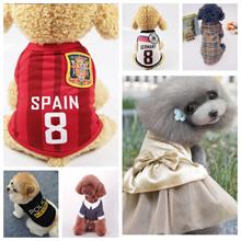 Quality dog clothes / Cat Pet Apparels *FIFA football jersey shirt dress collar harness