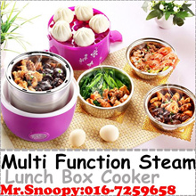 Multi Function Steam Lunch Box Electric Steam Cooker Food Heater