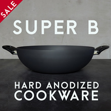 32CM WOK • SUPER B Singapore • Anodized Wok / Frying Pan / HEALTHY NO COATING / kitchen / induction