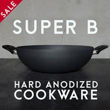 32CM WOK • SUPER B Singapore • Anodized Wok / Frying Pan / HEALTHY NO COATING / kitchen / induction