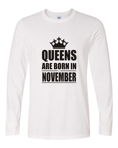 5bbbb58b Birthday Special T-Shirt for Girls Queens are Born in November 09  (Osiyankart)