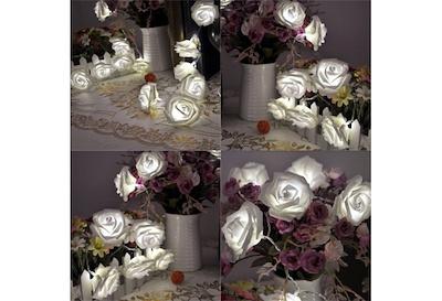 Qoo10 20 Led Guirlande Rose Fleur Lumineuse Mariage Party Xmas